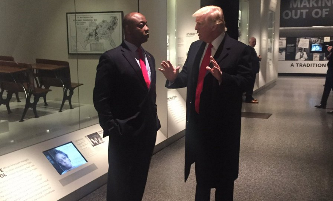 Sen. Tim Scott joined President Donald Trump in touring the National Museum of African American History in Washington, DC