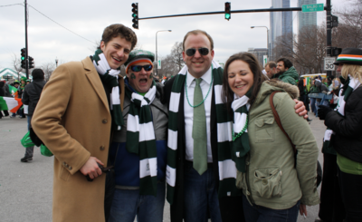 Chicago Alderman Brendan Reilly (second from right) has used his campaign account nearly 200 times to pay tabs at his favorite River North bar.