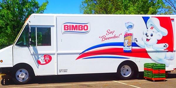 Large bimbo bread truck