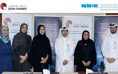 Qatar Chamber of Commerce and Industry and the Qatar Business Incubation Centre signed an agreement to aid small businesses.