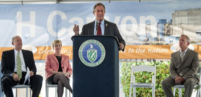 Rep. Joe Wilson (R-SC) speaks at the 60th anniversary event for the H Canyon facility.