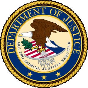 Large justice department logo