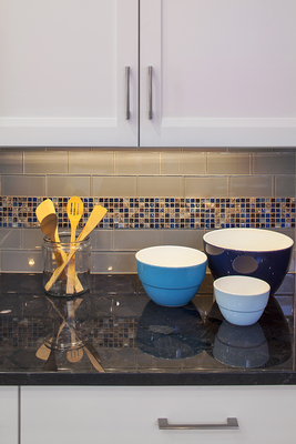 Backsplashes can work beautifully with granite countertops.