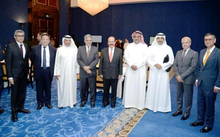 Bahrain's nogaholding members recently met to celebrate a $570 million deal for a Murahaba facility.