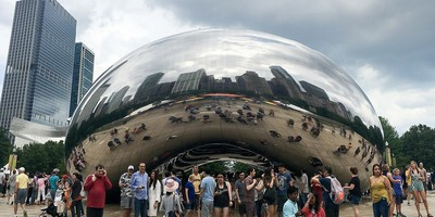 "Cloud Gate, known as ""The Bean,"" Millennium Park, Chicago"
