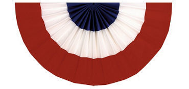 Red, white and blue bunting decoration