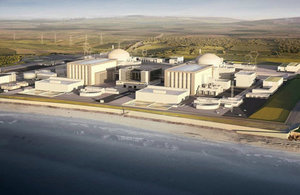 An artist's rendering of the proposed Hinkley Point C nuclear power plant.