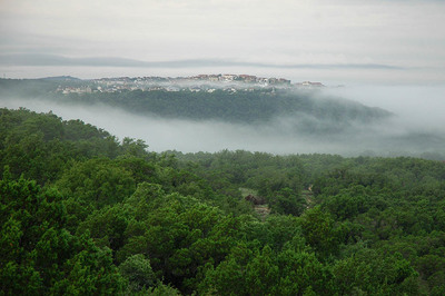 The views from Steiner Ranch as the fog rolls over Lake Austin are breathtaking.