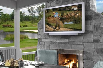 Outdoor TV sets are constructed to stand up to weather.