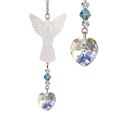 Birthstone angel crystal sun catcher
