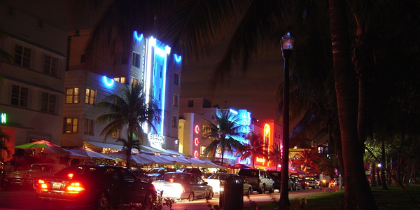 Large south beach miami at night 1280