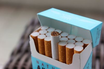 Medium pack of cigarettes