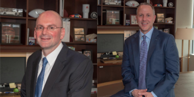 Asbury Automotive Group's CFO Sean Goodman (left) and CEO David Hult