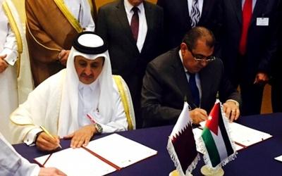 Qatar Chamber Chairman Sheikh Khalifa bin Jassim bin Mohamed Al-Thani signed a cooperation agreement with Nael Al Kabariti , Jordan Chamber chairman, recently.