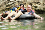 The San Marcos River offers a relaxing weekend activity for the whole family to enjoy.