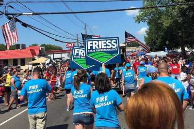 David Friess recently shared this picture of his supporters wearing