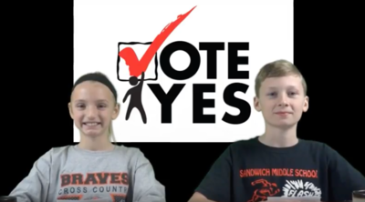 Sandwich District 430 Administrators created videos featuring students lobbying taxpayers to back their tax hike referendum.