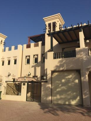 A fully-furnished five bedroom villa is available in Al Hamra Village.