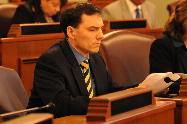 State Rep. Tom Morrison (R- Palatine) on the House floor
