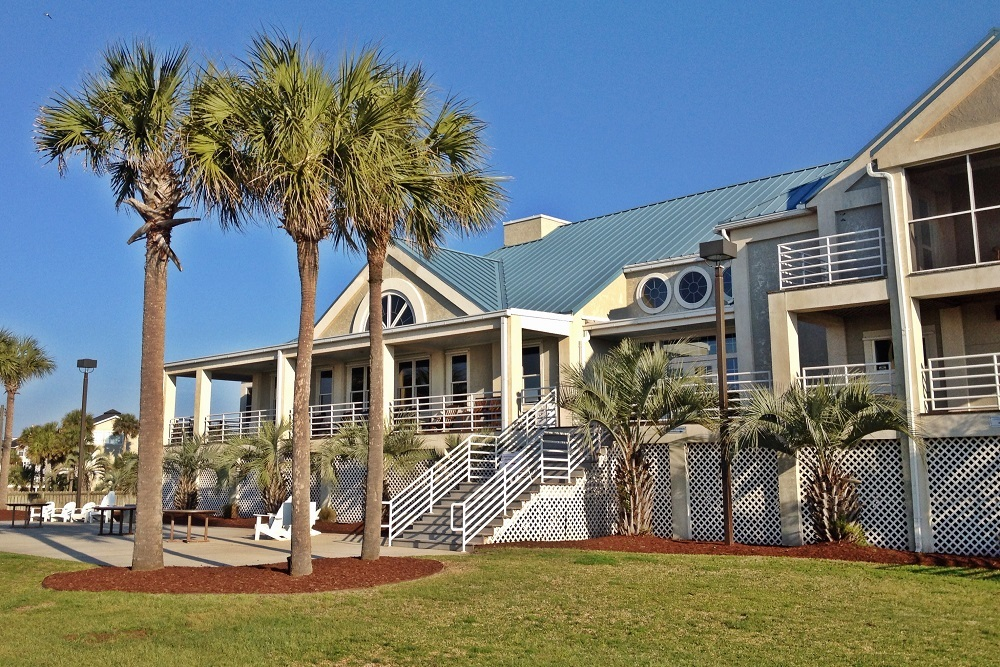 The Col. Robert R. McCormick Beach Club of The Citadel was damaged by fire in May 2016.