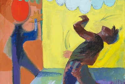 Joe Kameen's entry, an oil painting titled Shadow Boxer, will promote the North Charleston Arts Fest.