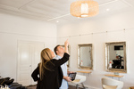 A change in lighting can do wonders for a room, but safety should be considered when doing so.