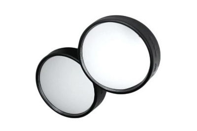 These simple mirrors are inexpensive but can make driving much safer.