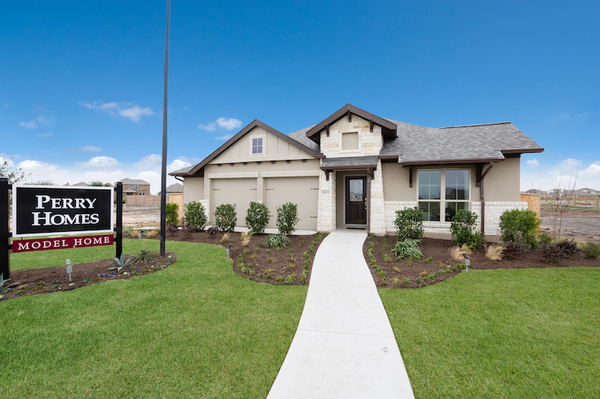 Perry Homes' offerings in ShadowGlen are affordably priced, starting in the $250,000s.