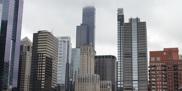 Large skyscrapers