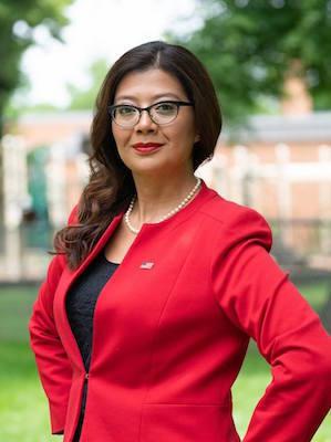 Democrat candidate Karina Villa