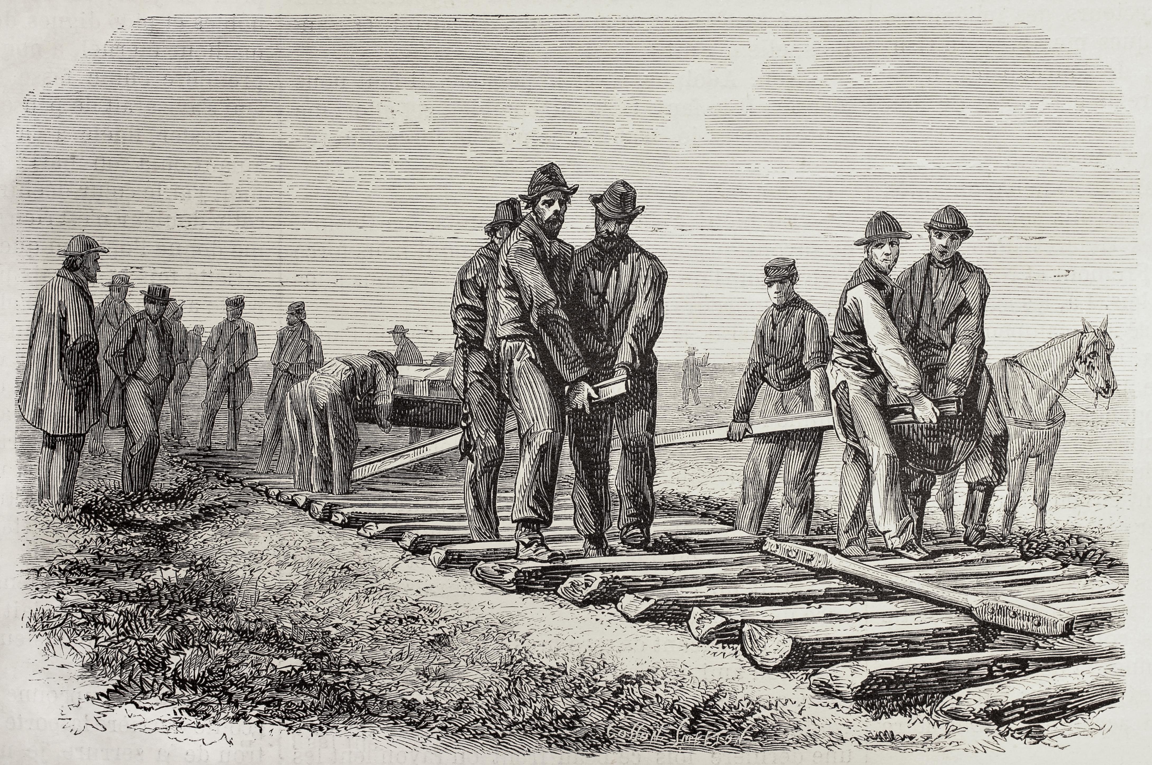 Shutterstock railroad antique print group