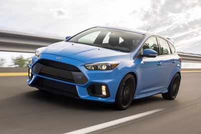 With 350 horsepower and 350 pound-feet of torque, the Focus RS easily outmuscles the Volkswagen Golf R and the Subaru WRX STI.