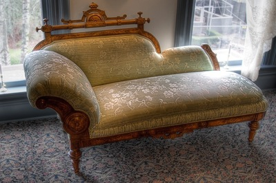The chaise lounge dates back to Egypt and is a hallmark of elegance in older European homes.