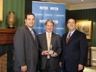 Sen. David Argall, center, was one of 133 Pennsylvania lawmakers who were named 'Guardian of Small Business' by the National Federation of Independent Business.