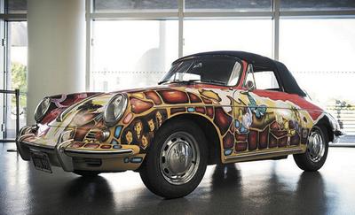 Janis Joplin's personalized 1964 Porsche.