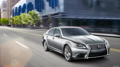 The Lexus LS 600 hybrid gets an EPA-estimated 23 mpg on the highway and 19 in the city.