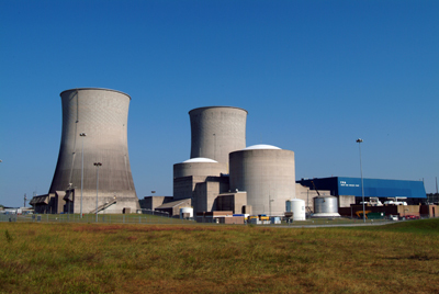The Watts Bar Nuclear Generating Station in Rhea County, Tennessee.