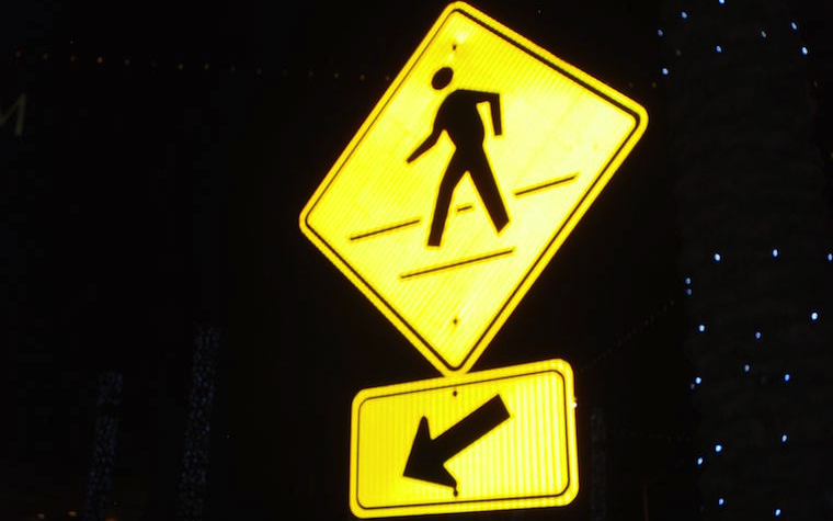 Pedestrian safety is a major goal for NDOT.