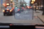 Carloudy integrates with Bluetooth to reflect an HUD display on the windshield glass.