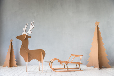 Don't be afraid to think outside the box -- or to cut up and use the box -- when decorating this year.