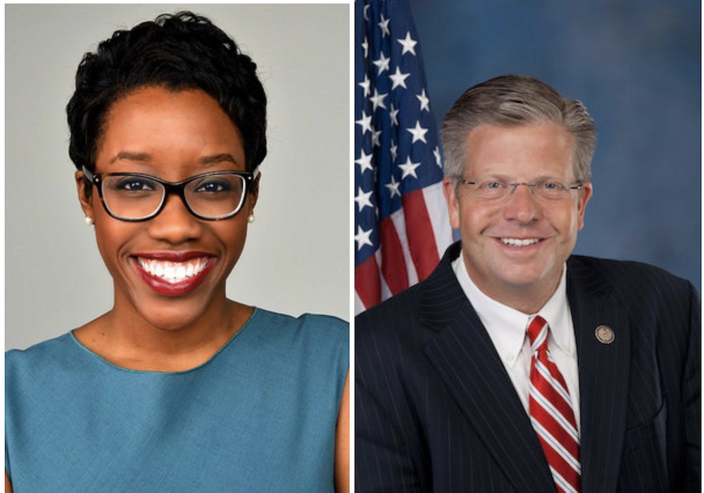 Lauren Underwood, left, and Randy Hultgren