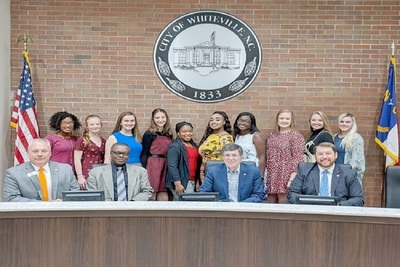 Medium miss whs contestants with whiteville city officials scaled e1582036455790