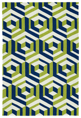 Outdoor rugs like this Kaleen rug are gaining in popularity in Austin, thanks to their durability.