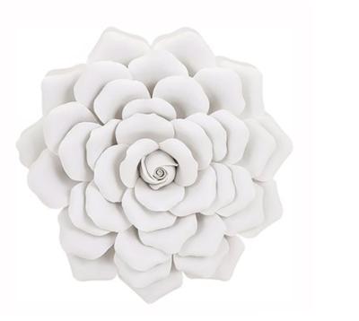 IMAX Worldwide 83334 Evington Medium Porcelain Wall Flower