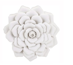 IMAX Worldwide 83334 Evington Medium Porcelain Wall Flower
