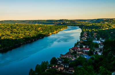 Mount Bonnell provides an excellent lookout point over Austin and West Lake Hills.