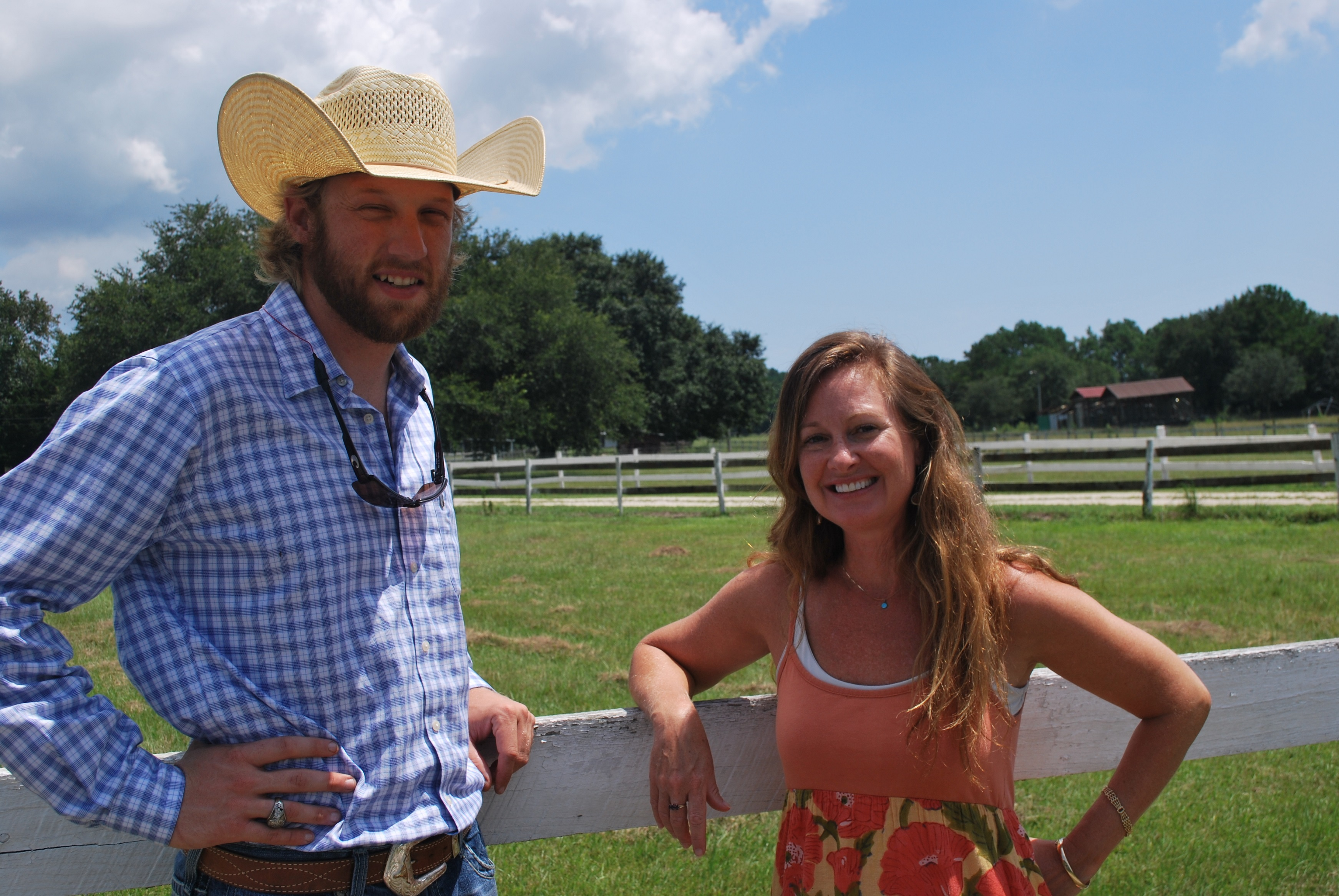 Kyle Ferrell and Catherine Main at Thornhill Farm.