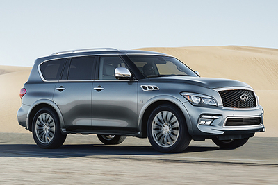 The exterior is powerful, with great towing capability.