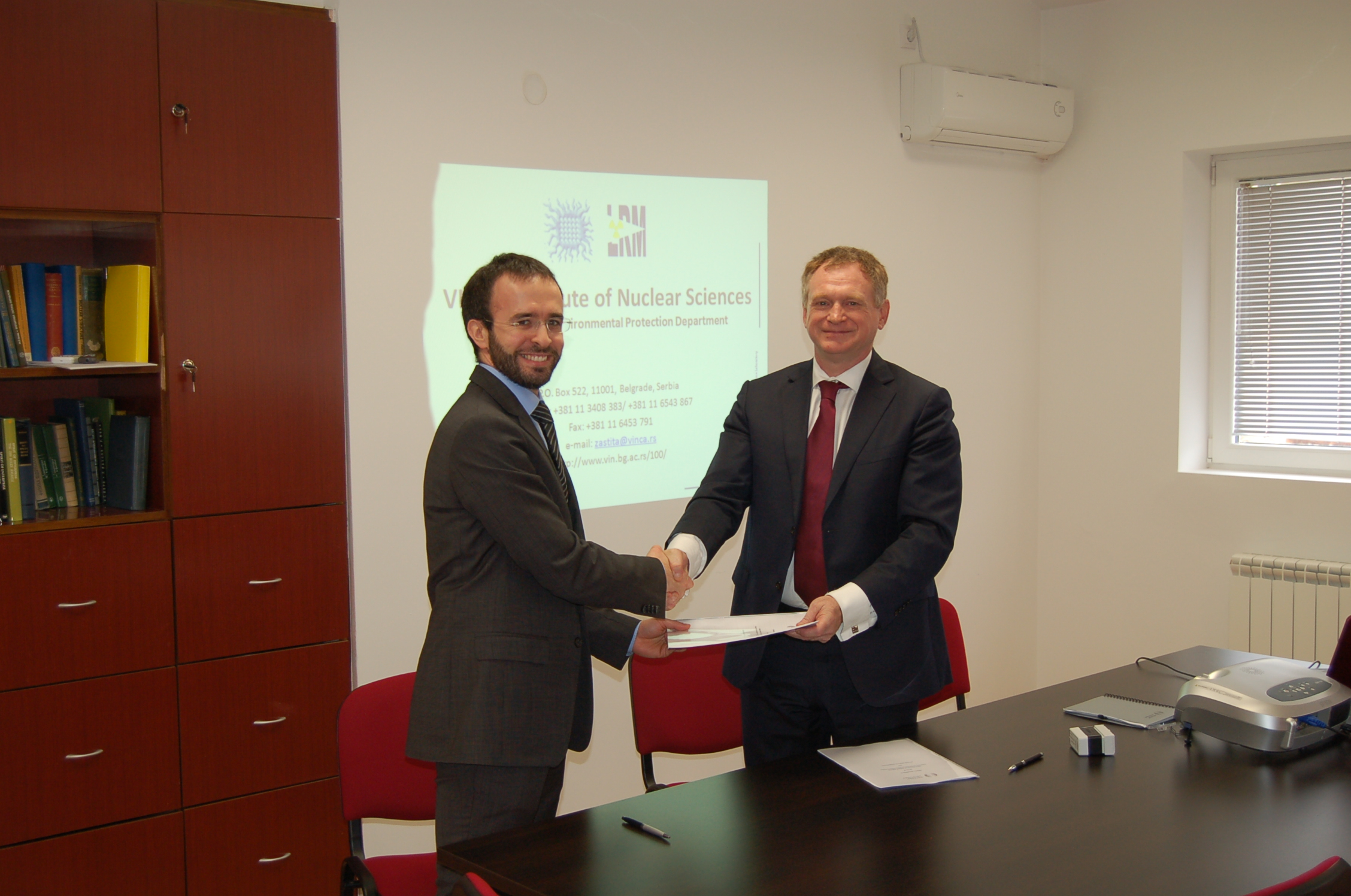 Mr Djordje Lazarevic, Head of the Department and Mr Olivier Mattmann, CEO of Hotzone Solutions