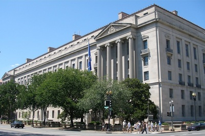 The U.S. Department of Justice building in Washington, D.C.